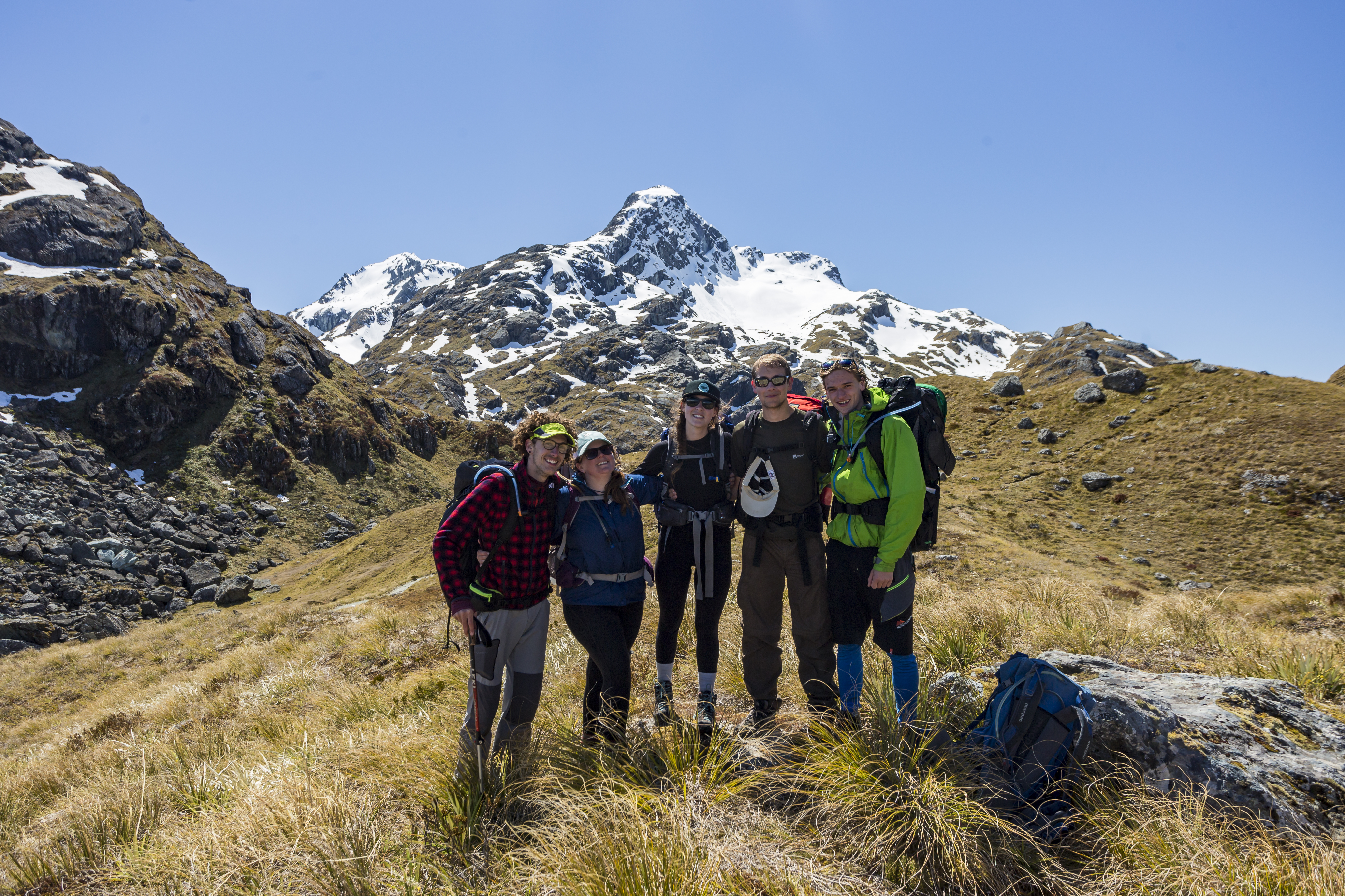 Pure Exploration Interns enjoying the South Island
